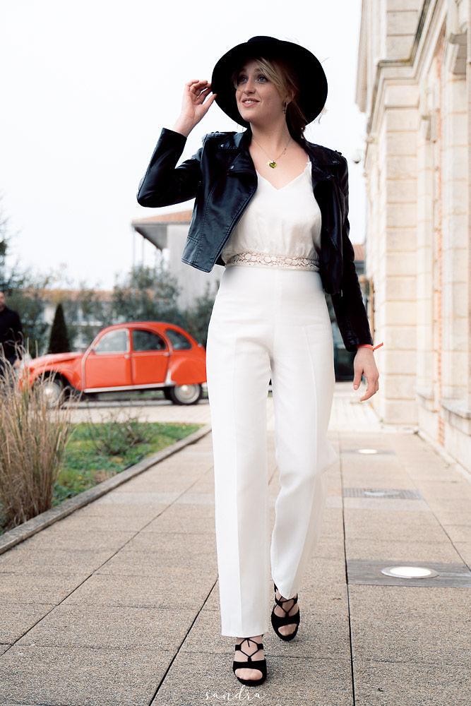Location robe de mariée La Rochelle combinaison Maelle + veste