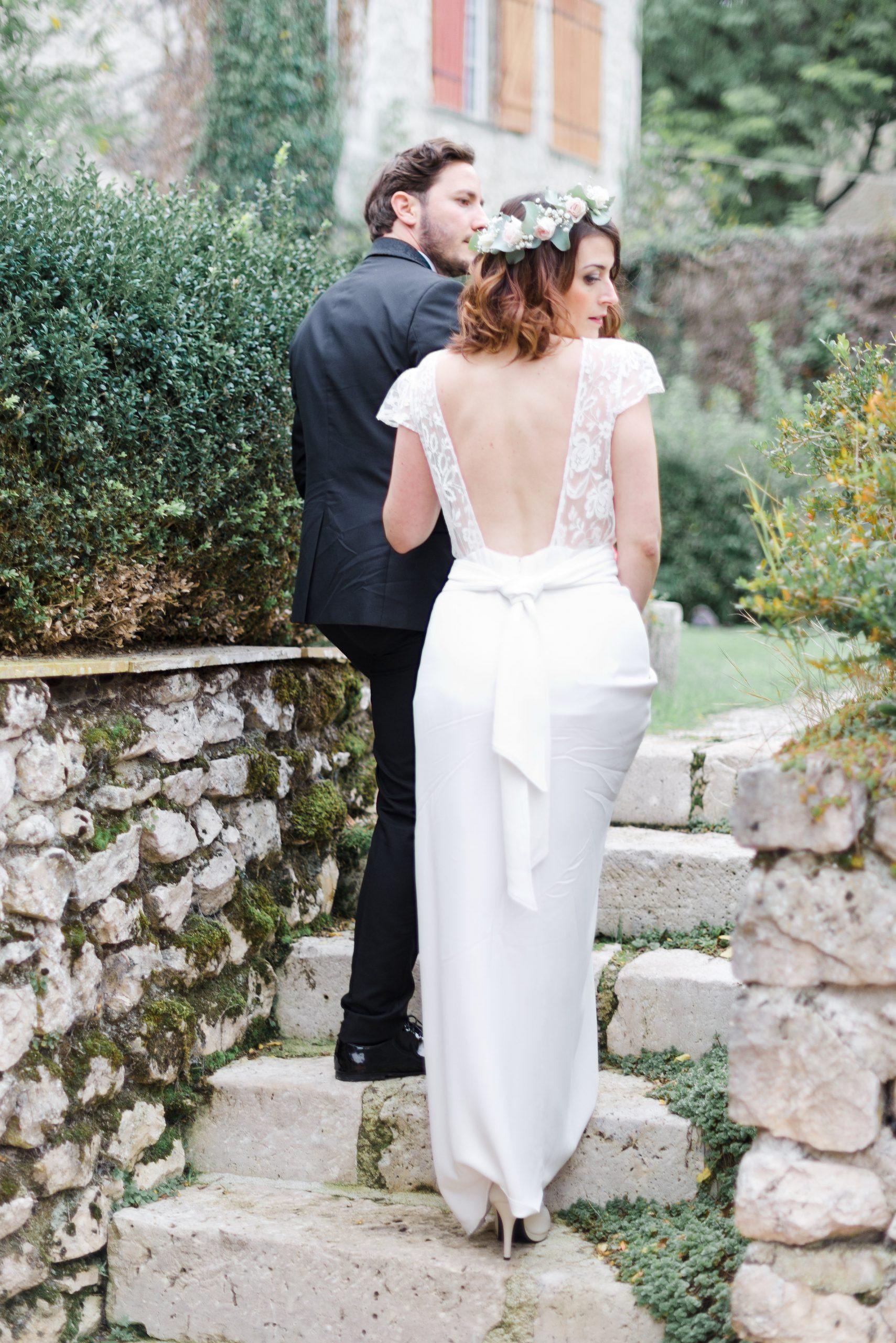 Location robe de mariée La Rochelle robe Camille dos