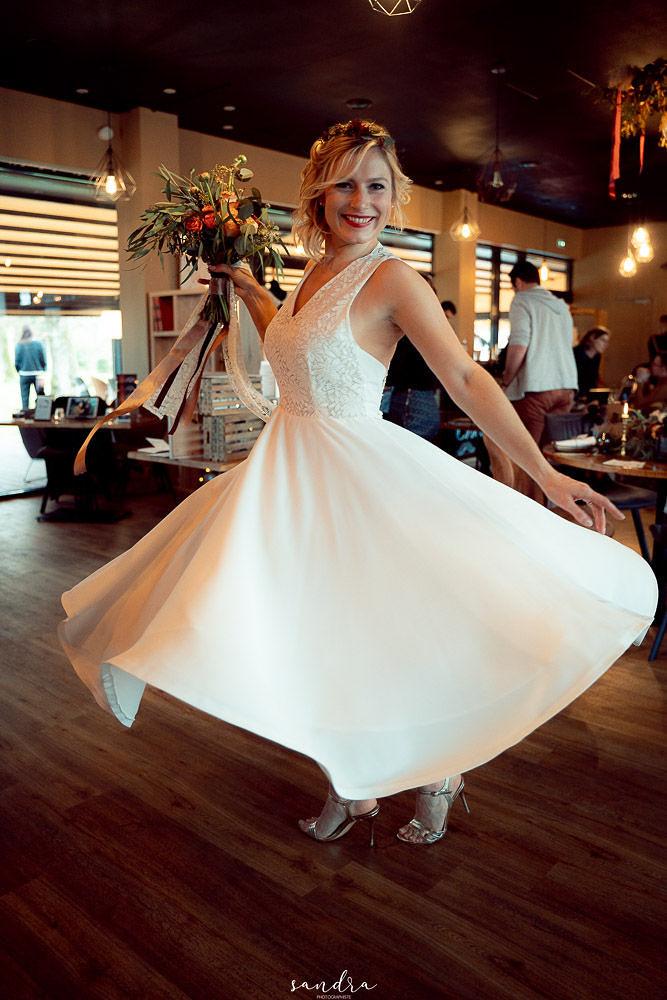 Location robe de mariée La Rochelle robe Johanna face tournant