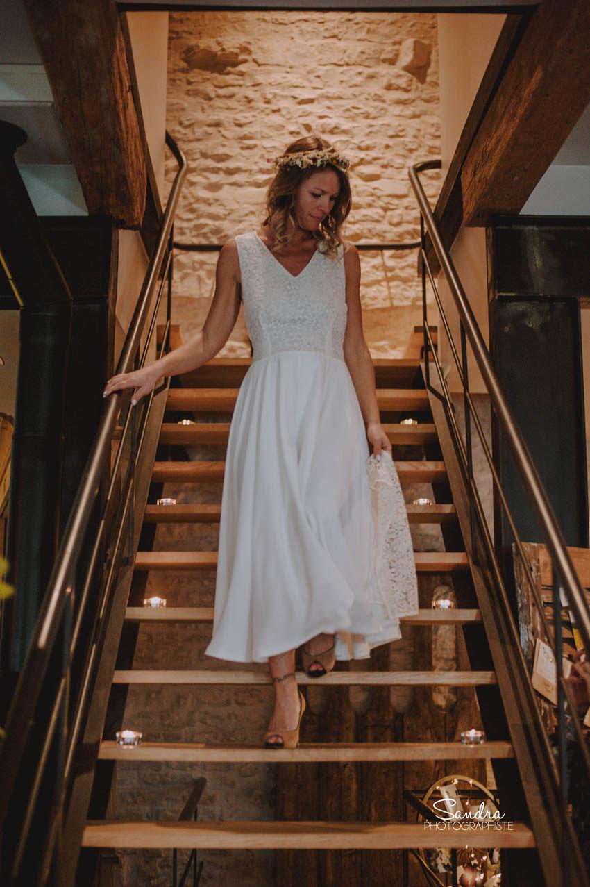 Location robe de mariée La Rochelle robe Johanna face