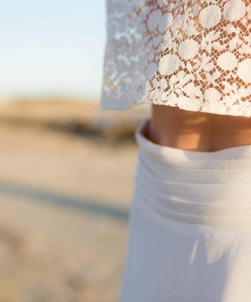 Location Robe de mariée La Rochelle ensemble Amandine ceinture détail