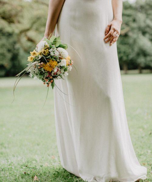 Location Robe de mariée La Rochelle robe Camille bas face