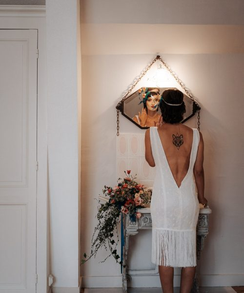 Location robe de mariée La Rochelle robe Julie dos