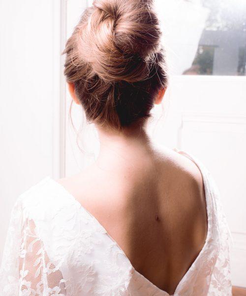 Location robe de mariée La Rochelle top Céline detail dos