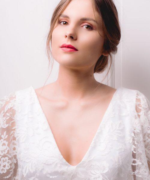 Location robe de mariée La Rochelle top Céline detail face