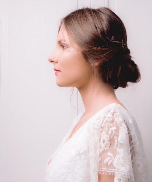 Location robe de mariée La Rochelle top Céline detail profil