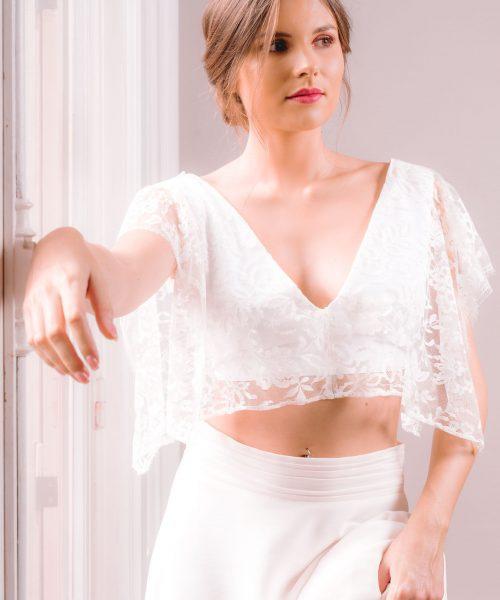 Location robe de mariée La Rochelle top Céline face